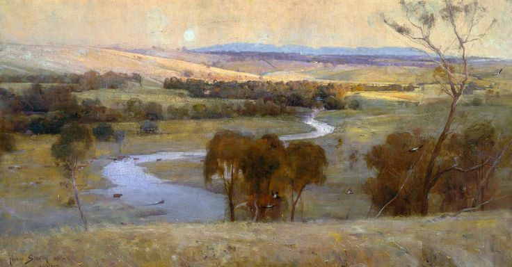 Arthur Streeton, Still Glides the Stream 1890, Fade Proof HD Art Print or Canvas in Art, Prints | eBay