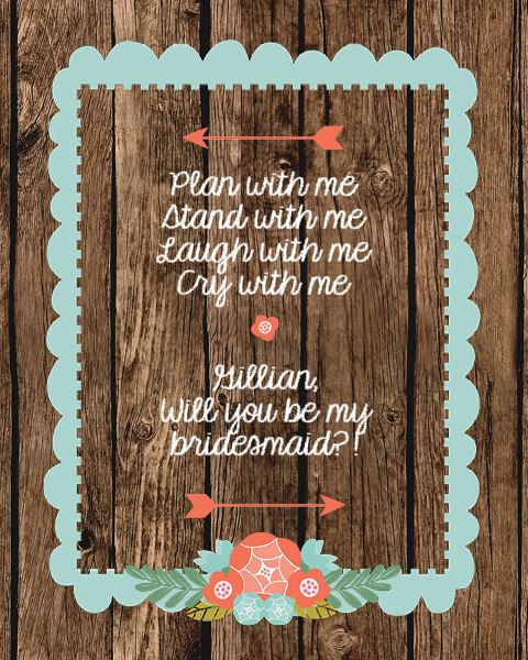 will you be my bridesmaid wine label by VintageLeeCrafted on Etsy, $3.00