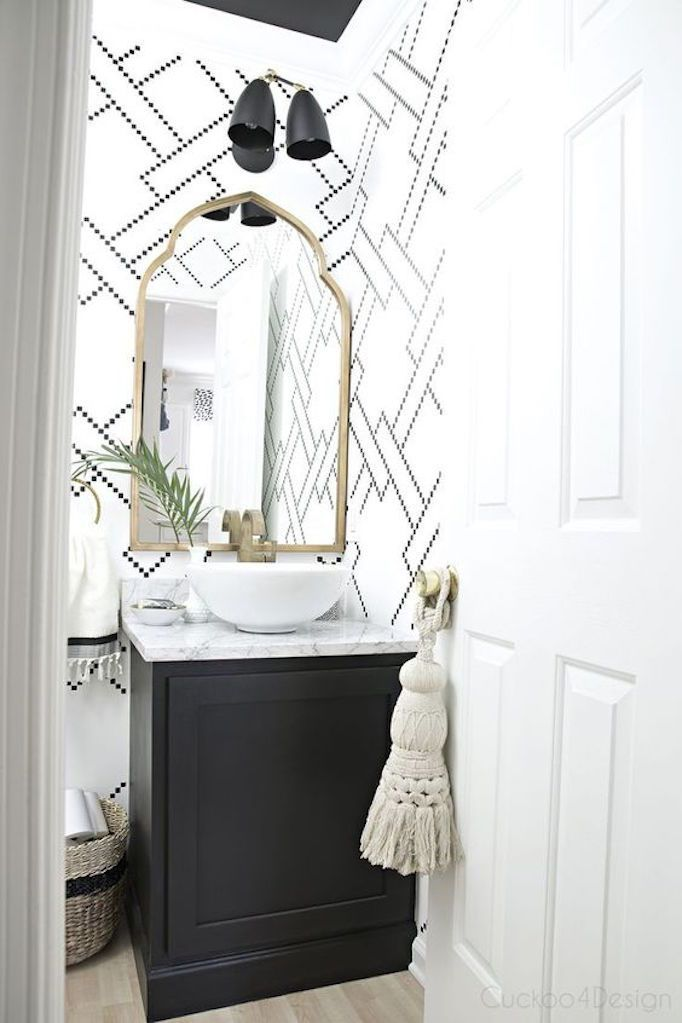 267 best pretty powder rooms images on pinterest Accessorizing a small bathroom