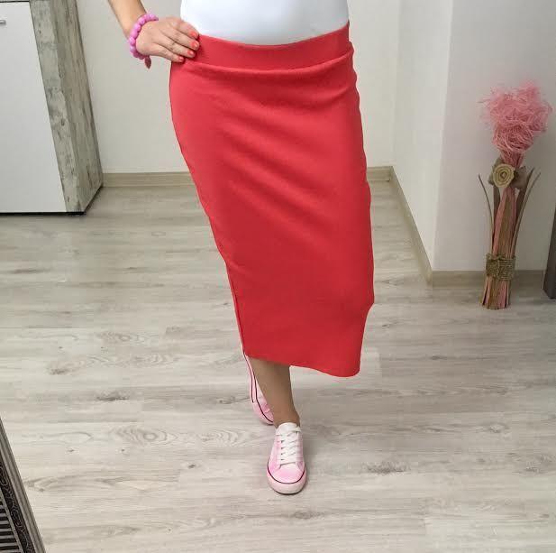 Tepláková sukňa red
