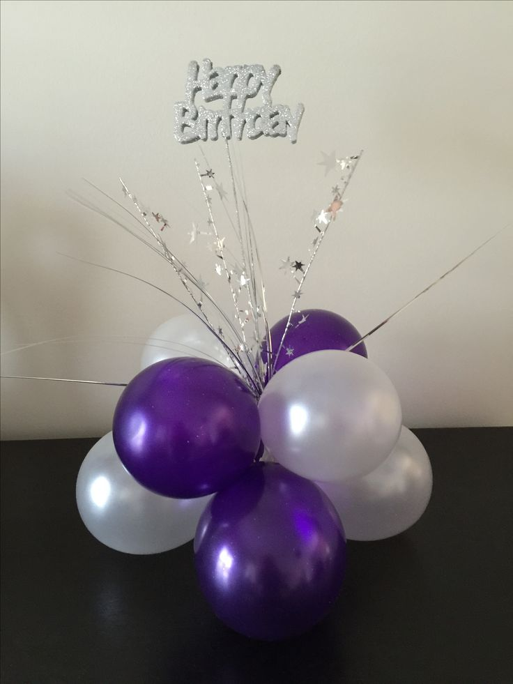 1640 best images about balloon centrepieces on pinterest for Birthday balloon centerpiece ideas