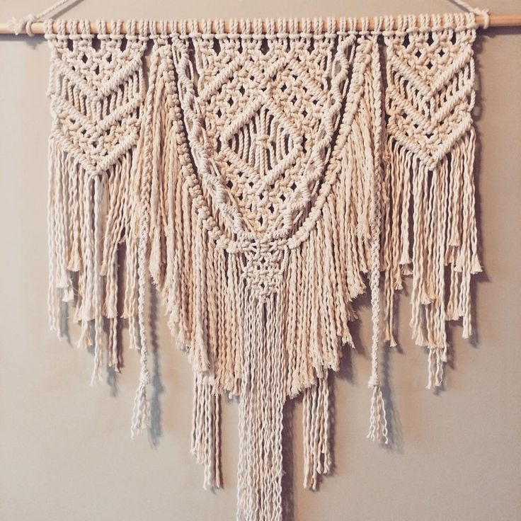 "Beautiful macrame wall hanging by @ropesandroses_ on Instagram: ""experimenting with layers today!"""