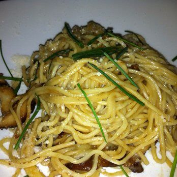 Shiitake garlic noodles! to die for ! The YardHouse
