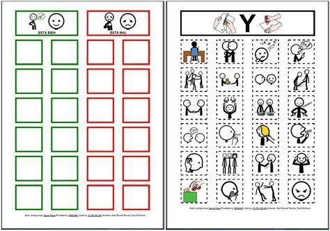 """""""Aprendo lo que está bien y lo que está mal"""" para autorregular mi conducta, con pictogramas de ARASAAC."""