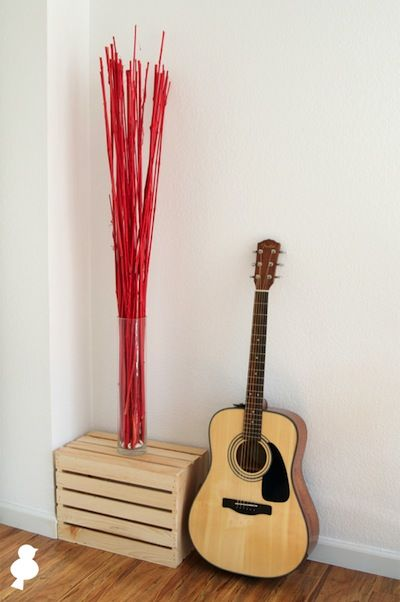 Spray Painted Bamboo Sticks Diy Home Furnishings