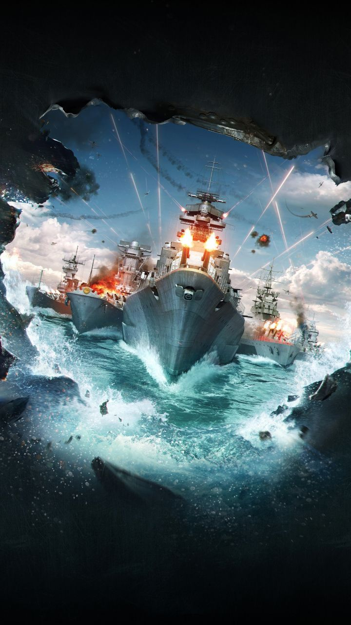 Video Game Warships Ships World Of Warships 720x1280 Wallpaper