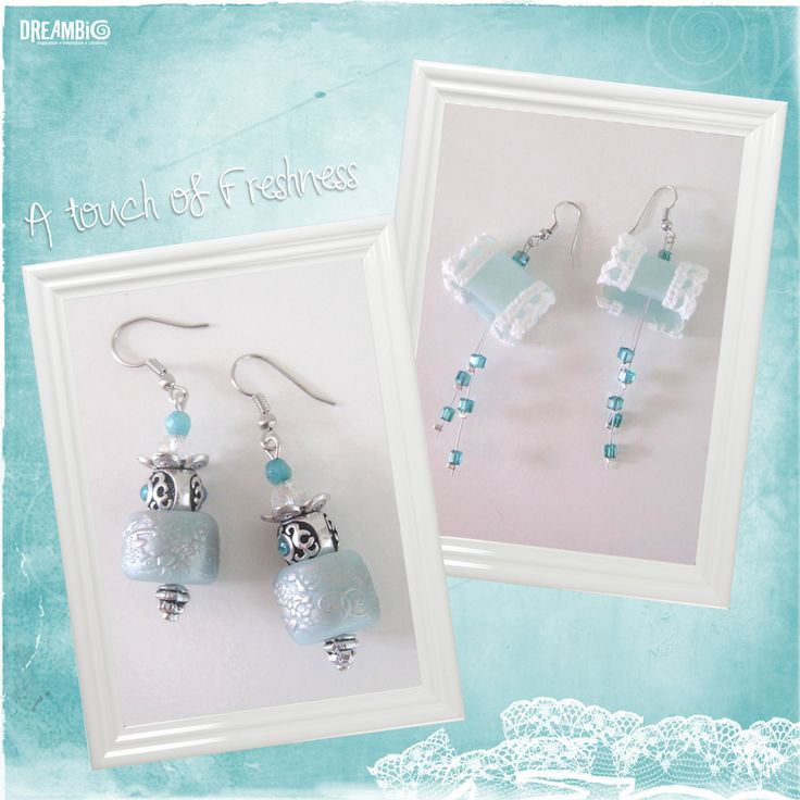 blue laggon earings and lace