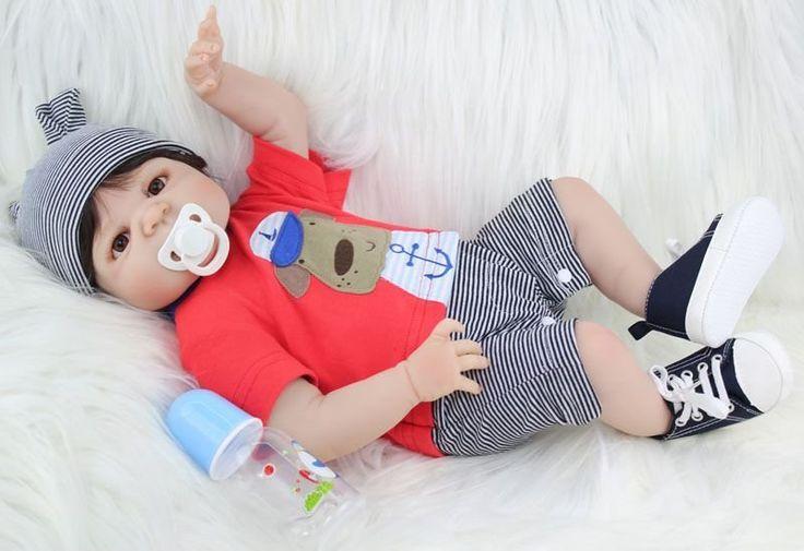 Bebe Reborn Heitor com 55cm Inteiro em Silicone - Pronta Entrega - Loja da Bebe Reborn - Frete Grátis p/ todo o Brasil