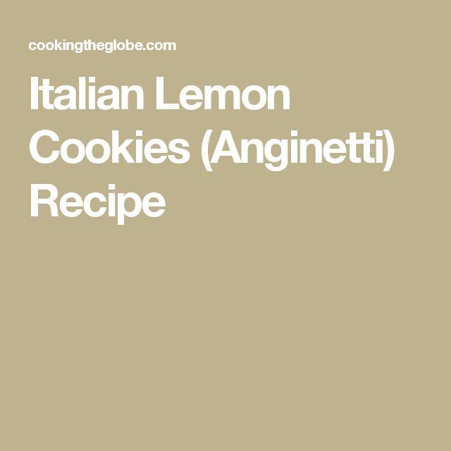 Italian Lemon Cookies (Anginetti) Recipe