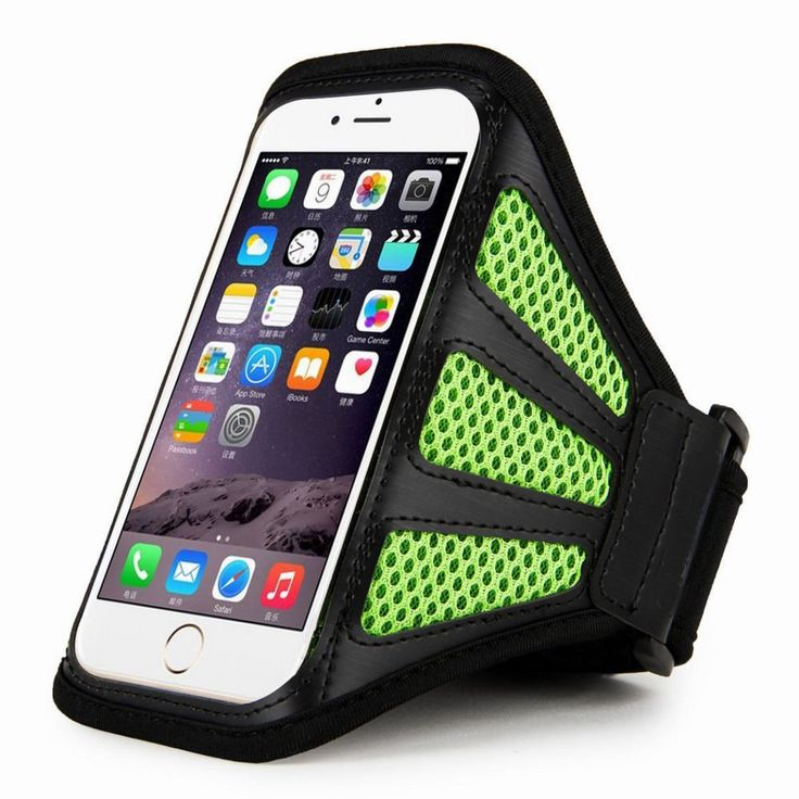 "Green+For+iPhone+6+Plus+5.5""+Sports+Running+Cycling+Mesh+Armband+Phone+Case+Cover"