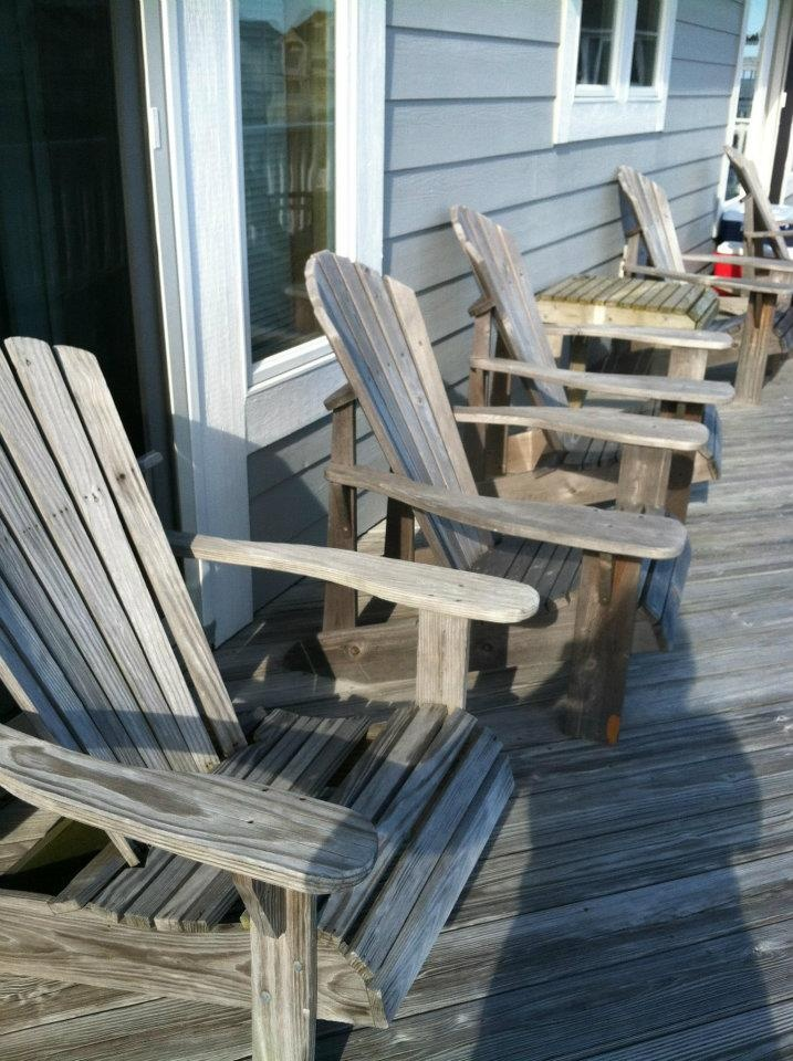 Perfect August 2012. Diane Kerslakeu0027s Deck In Avon, Obx. Aaaaahhhhh. Beach  ChairsAdirondack ...