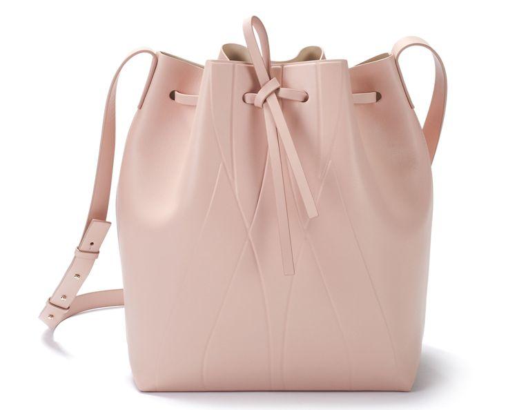 ALESYA ORLÓVA / GEO Bucket Bag nude / GEO Collection minimal, accessory, bucket…