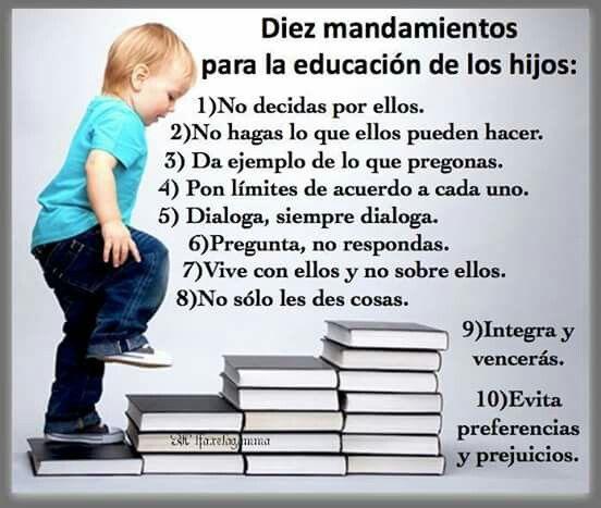 Consejos de como educar a los hijos.
