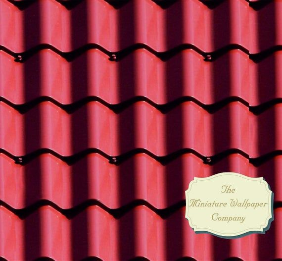 Classic Clay Tile Roofing Sheet 12th Scale Miniature Etsy Roofing Sheets Clay Tiles Roofing