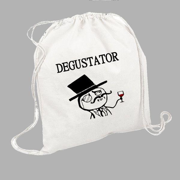 "Worek - plecak bawełniany ""DeGustator"" - FUNfara - Plecaki"