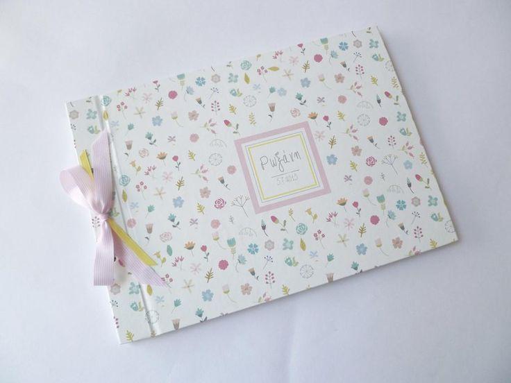 ρομαντικό βιβλίο ευχών βάπτισης με λουλουδάκια - craft room