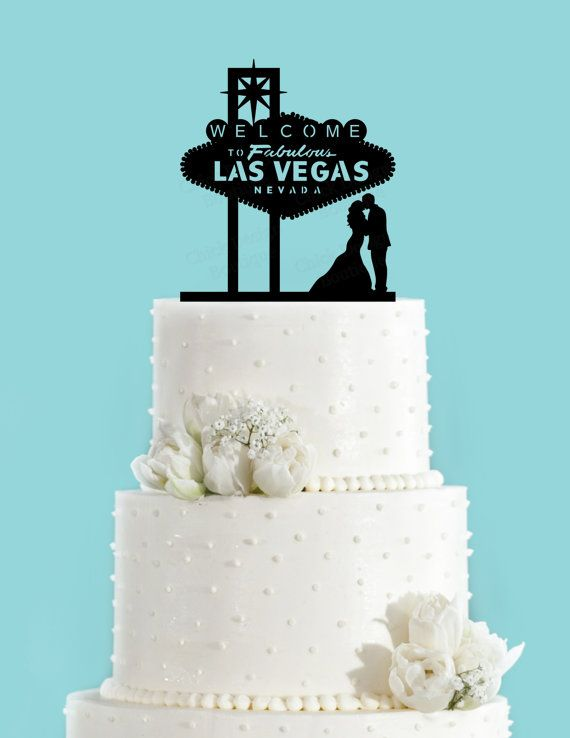 vegas themed wedding cake toppers las vegas sign and acrylic wedding 21574