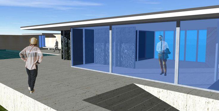 barcelona pavilion / sketch up / external view