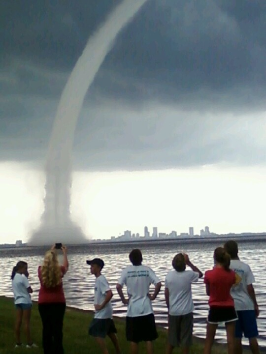 Water Spout On The St Johns River Jacksonville Fl