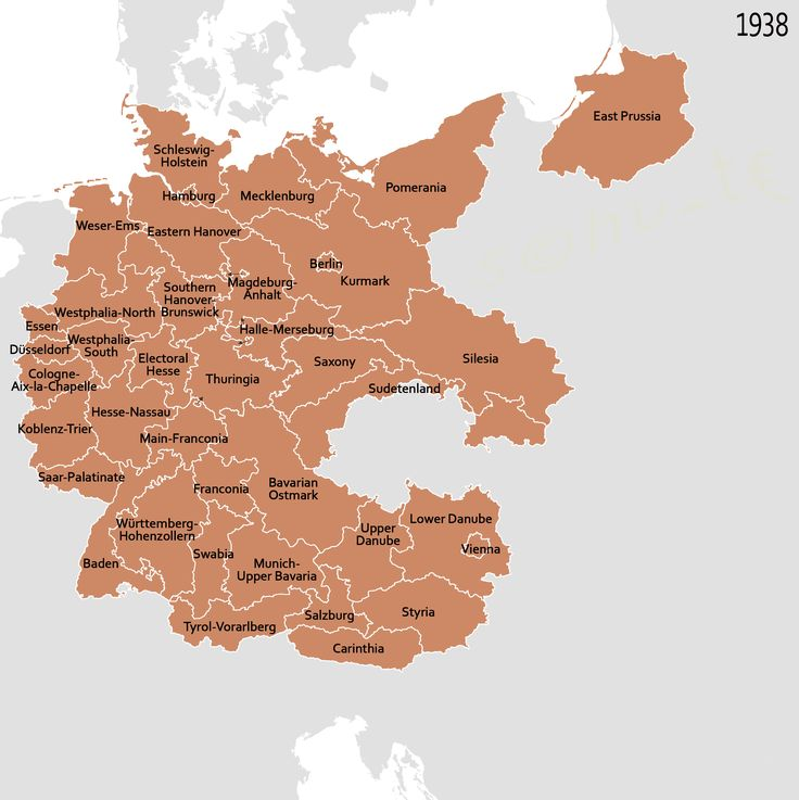 Map of Germany 1938