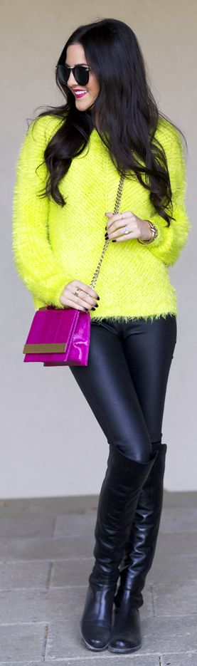 Street style fashion / karen cox. #Bright Delight... by Pink Peonies