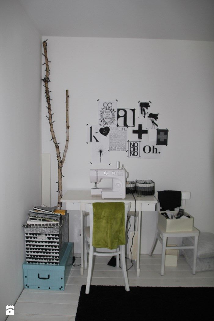 styl Skandynawski - zdjęcie od Agnieszka Kijowska - Styl Skandynawski - Agnieszka Kijowska, black & white, scandinavian design, dots, workspace ideas, diy