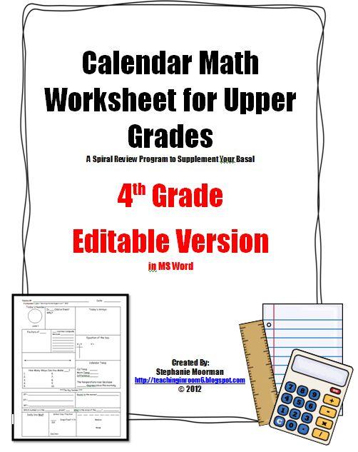 More great info for upper elem. calendar math!  Fabulous!