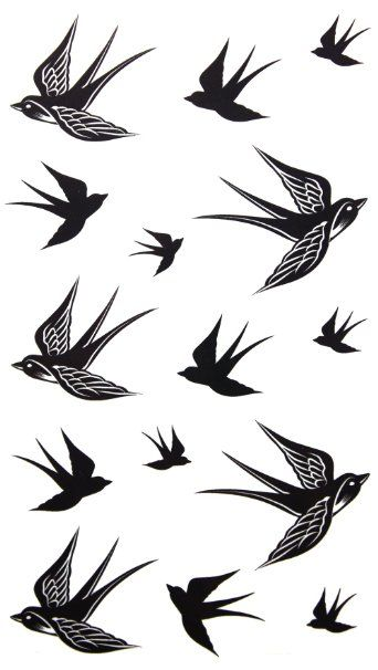 Amazon.com: GGSELL 2012 new design New release temporary tattoo waterproof Swallow tattoo stickers: Beauty
