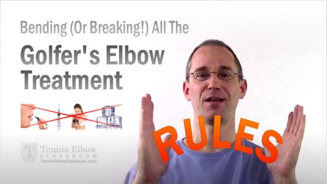 "Why you can not only safely ""break all the rules"" when it comes to treating your Golfer's Elbow - But why you should, in fact, IGNORE most of those ""common wisdom"" treatment guidelines! (And why those recommendations may, unfortunately, do you more harm than good.) - http://tenniselbowclassroom.com/golfers-elbow-treatment/golfers-elbow-treatment-rules/ - #GolfersElbowTreatment - #GolfersElbow"