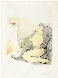 Couple auprès de lâtre by Henri Gabriel Ibels