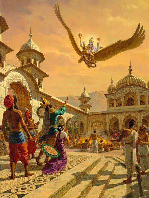 Lord Vishnu and His devotees