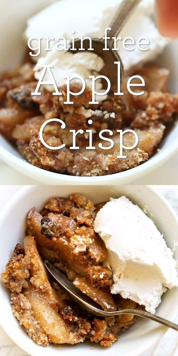 Crujiente de manzana sin granos   – Food
