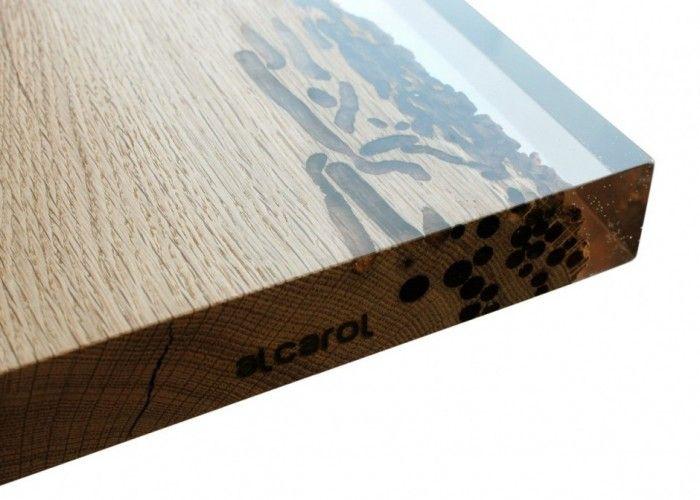 Tavolo Chimenti With Briccole E Resin   Detail 1