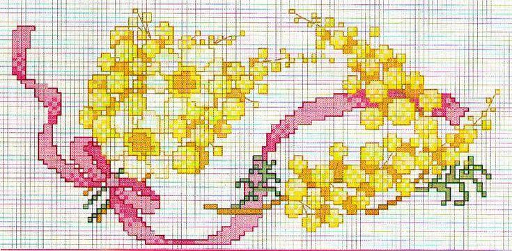 Esquema punto de cruz Mimosa