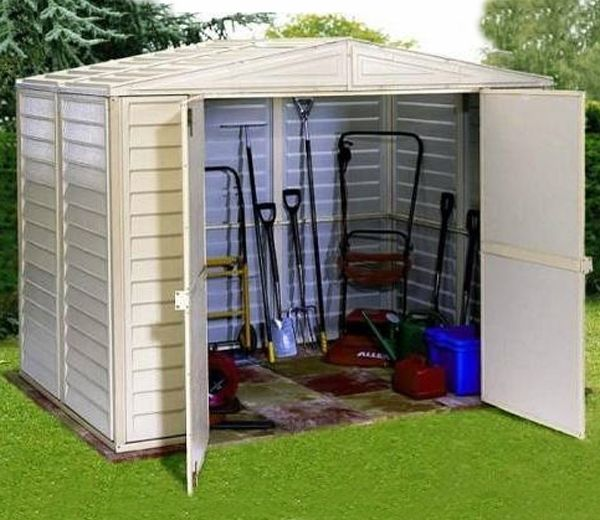 DuraMax All Weather PVC Vinyl 8ft Wide DuraMate Sheds - GardenSite.co.uk