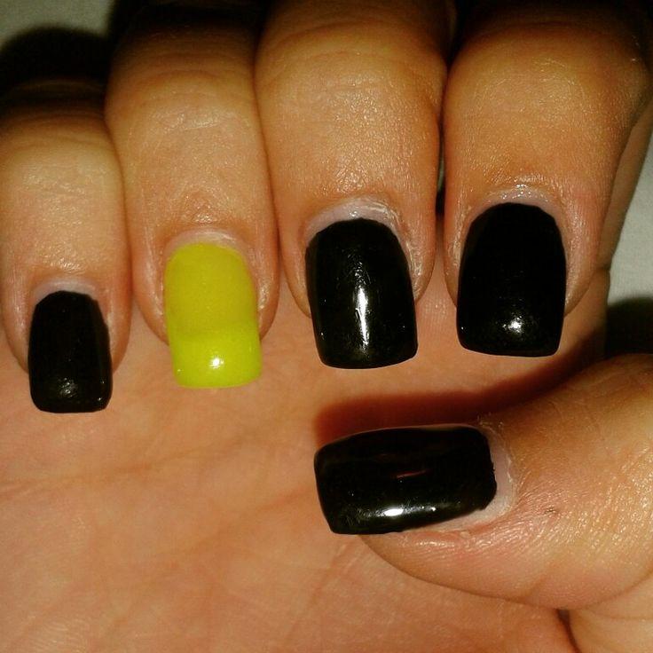 Fluorescent Yellow & black