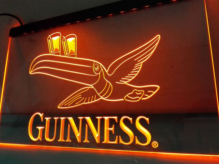 Guinness Toucan Beer Bar Pub Club LED Neon Light Sign home decor crafts