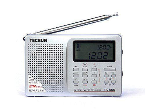 Radar�TECSUN PL-606 Digitales PLL Tragbares Radio UKW-Stereo / LW / KW / MW DSP-Radioempf�nger(silber)