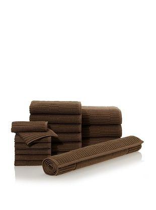 65% OFF Chortex Oxford 16-Piece Bath Towel Set, Khaki