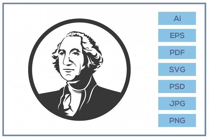 Vector Of George Washington Logo Design 415294 Logos Design Bundles Logo Design Graphic Design Logo Logo Illustration