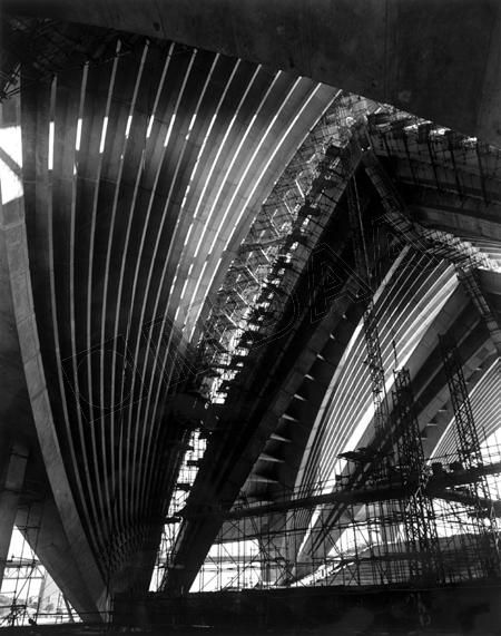 Sydney Opera House construction progress, Opera House Major Hall superstructure 1967 - Jørn Utzon architect