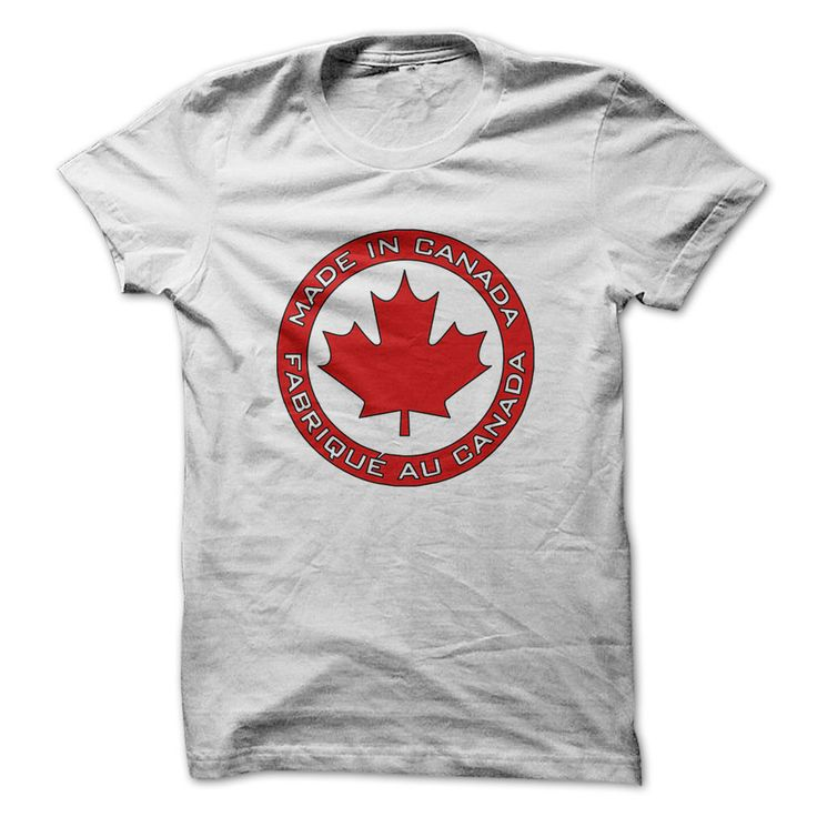 Made in Canada T Shirt - other colors are available - tops for Canadian  women and