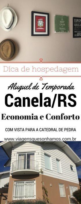 Casa para aluguel de Temporada em Canela, na Serra Gaúcha,  com diária a partir de R$ 280,00