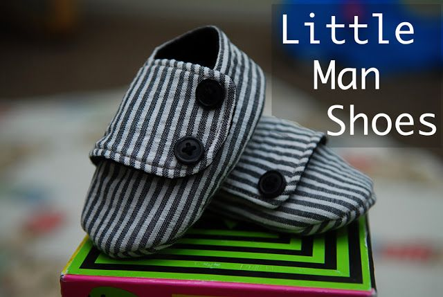 "Free Sewing Pattern & Tutorial: Baby shoes--called ""Little Man Shoes,"" but you could certainly make them for a little lady, too--from Shwin&Shwin (19 May 2011)."
