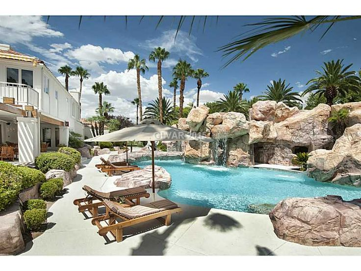 682 best pretty pools beautiful backyards images on pinterest decks dream houses and houses for Las vegas homes for sale with swimming pool