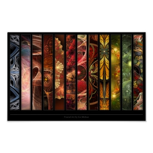 Selection of Fractal Art by Liz Molnar Poster $10.25 #fractals #abstract #art #posters