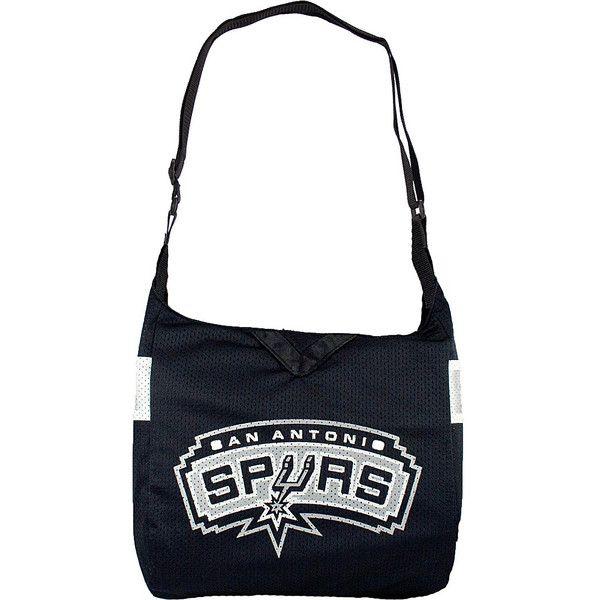 Littlearth Team Jersey Shoulder Bag - NBA Teams - San Antonio Spurs -... ($28) ❤ liked on Polyvore featuring bags, handbags, shoulder bags, grey, gray handbags, littlearth, shoulder bag purse, gray shoulder bag and grey shoulder bag