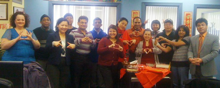 Students and staff at the Warden and Sheppard Campus in Toronto wishing everyone a Happy Valentine's Day!