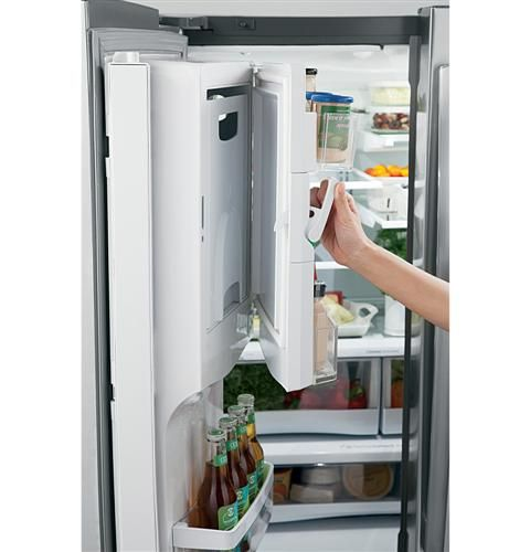 This Ge French Door Refrigerator Features An Icemaker Inside The Freezer Door Allowing You To Maximize Space And Minimize Spillage Chef Kitchen