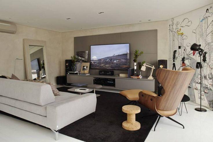 Modern media room by Lovisaro Arquitetura e Design